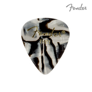 펜더 피크 그래픽 지브라 Thin Fender 351 Shape Graphic Zebra Pick 198-0351-211