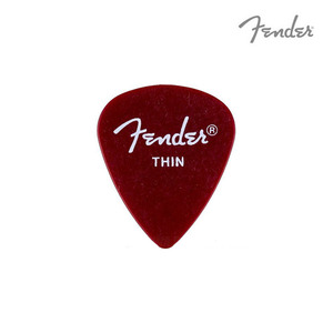펜더 피크 캘리포니아 클리어 RED Thin Fender 351 Shape California Clear Pick 098-1351-109