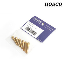 F-3700 Bridge Pin Solid Brass Slotted 6P Set 브릿지핀